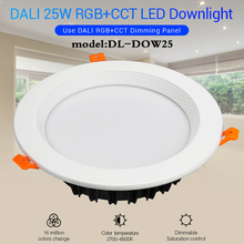 MiBOXER DL-DOW25 DALI 25W RGB+CCT Indoor LED Downlight AC100-240V 2700K~6500K Compatible with DALI panel dimmable range 0~100%