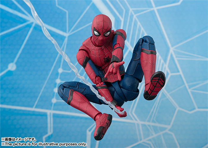 SHFiguarts Spider Man Homecoming Superheros The Spiderman PVC Action Figure Collectible Model Kids Toys Doll 14cm shfiguarts batman injustice ver pvc action figure collectible model toy 16cm kt1840