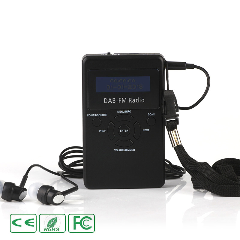 Mini Numérique FM radio dab Dual Band Antenne Intégrée récepteur portable Kit Aucun lecteur de musique bluetooth écran lcd USB De Charge