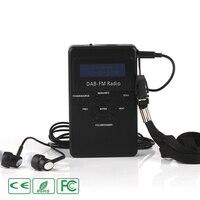 Mini Digital FM DAB Radio Dual Band Built in Antenna Portable Receiver Kit None Bluetooth Music Player LCD Display USB Charging