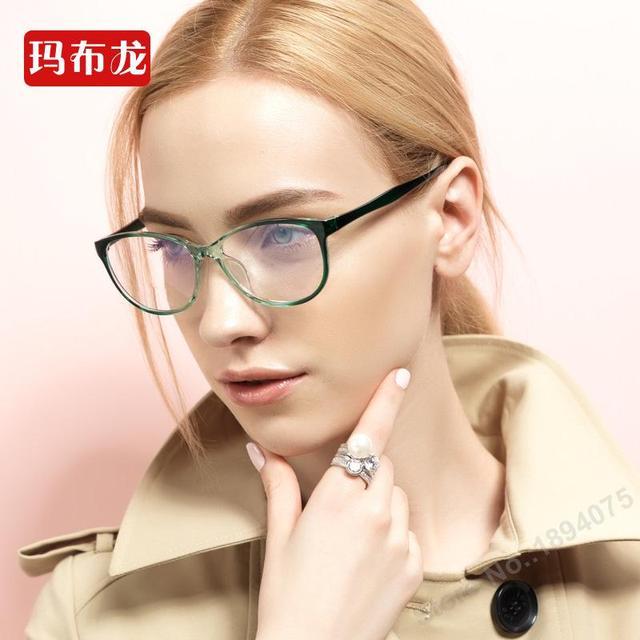 Envío prescrption llenado miope ojo marcos de los vidrios de las mujeres miopía marco de los vidrios gafas closesighted eyewear 5851