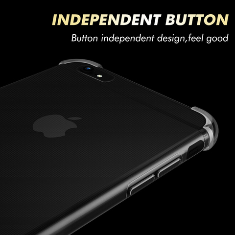 Shockproof Clear Soft Fitted Cases For iPhone X 8 7 6s 6 Plus 10 5S Case Transparent Silicone Phone Back Cover for iphone 7 case Karachi
