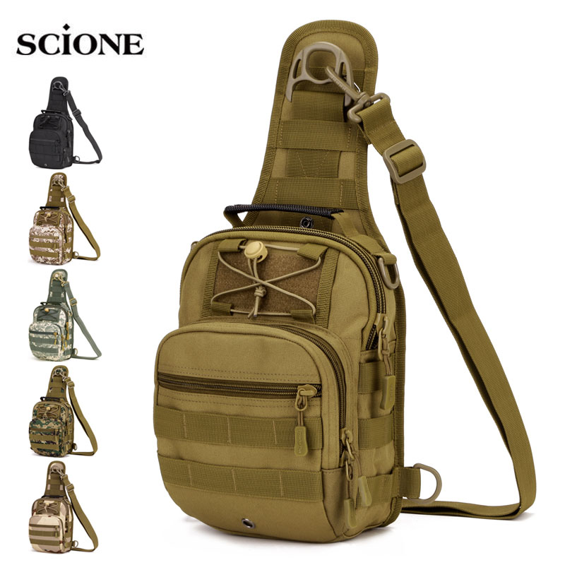 Camping & Hiking Sports & Entertainment Solid Color Outdoor Tactical Hiking Bag Military Army Shoudler Bag Water Molle Camping Bags Chest Body Sling Single Shoulder Bag