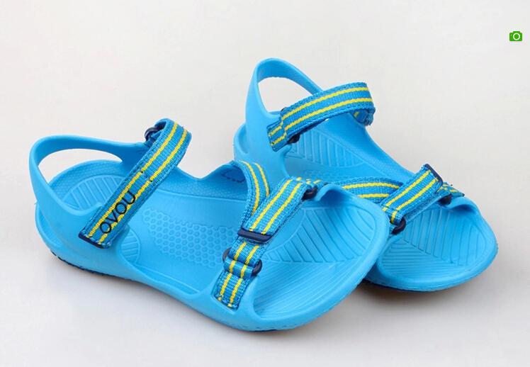 19437f67459 Beach Shoes For Kids Brand Boys Sandals Solid Zapatos Open toe Flip Flop  Children Summer Shoes EU28 37 Beach Shoes For Kids en Sandalias de Mamá y  bebé en ...