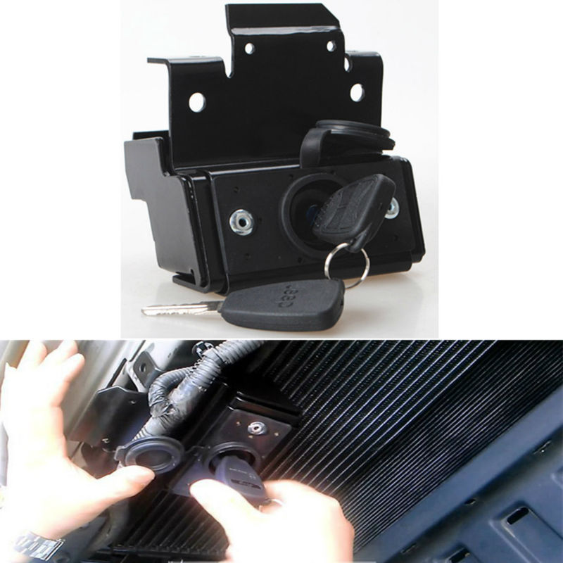 ФОТО For Jeep Wrangler JK 2007-2016 Hood Lock Kit Car Replaceable Anti-Theft Security Lock Latch Kit Assembly