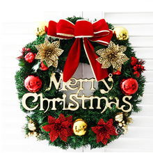 2019 Dropshipping Christmas Ornaments 30cm Wreath Door Hanging Window Props Background Tree Accessories