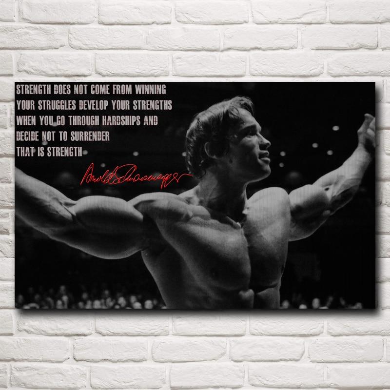 Bodybuilder Arnold Schwarzenegger Silk Poster Classic ...