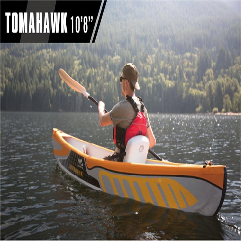 """Ilmainen toimitus Aquamarina puhallettava Tomahawk 10'8 """"kajakkivene ajaa"""