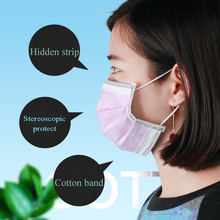50Pcs/Set 3 Ply Disposable Face Mask Pink Non-Woven Dustproof Mouth For Beauty Makeup Microblading Tattoo Accessories