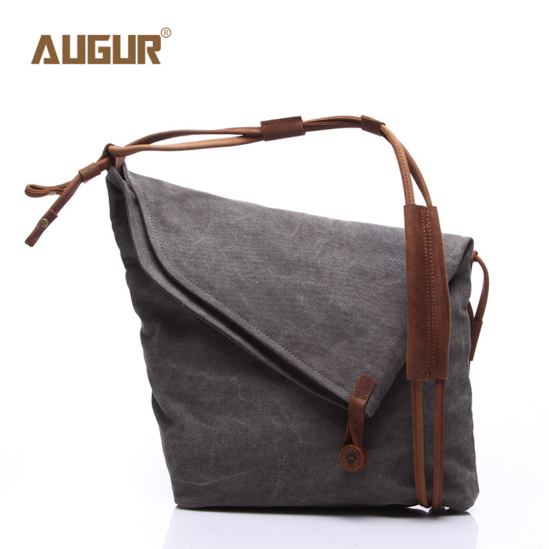 AUGUR Fashion Women Messenger Bags High Quality Canvas Crossbody Bags for Women Shoulder Bag Luxury Handbags Women Bags Designer aosbos fashion portable insulated canvas lunch bag thermal food picnic lunch bags for women kids men cooler lunch box bag tote