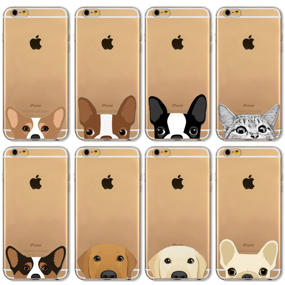 Cover iphone 5 squishy - Funny Cute Cat Dog Animals Patterns Back Cases Cover For Iphone 4 4s 5 5s Se