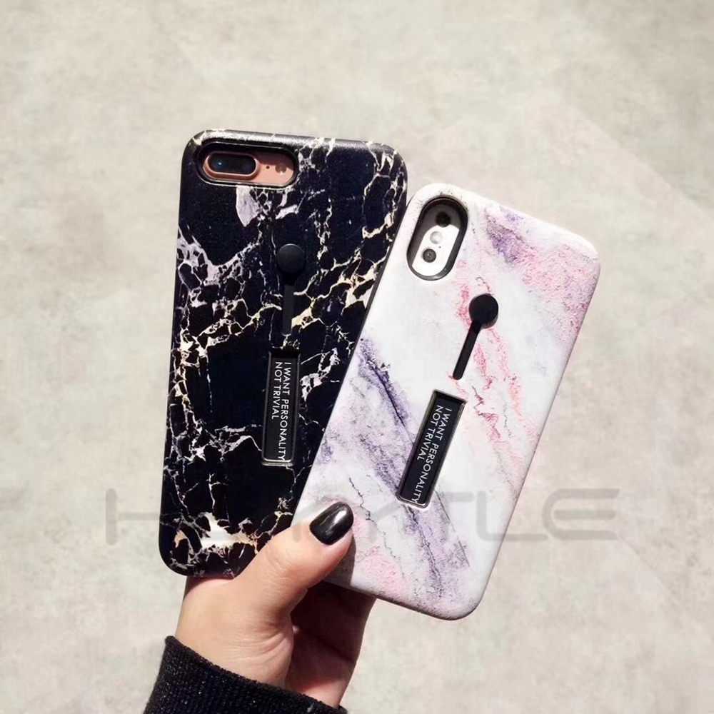 Marble Silicon Ring Phone Iphone X 8 7 6 6S Plus Cases Luxury Soft Phone Cover Hide Stand Holder Shell