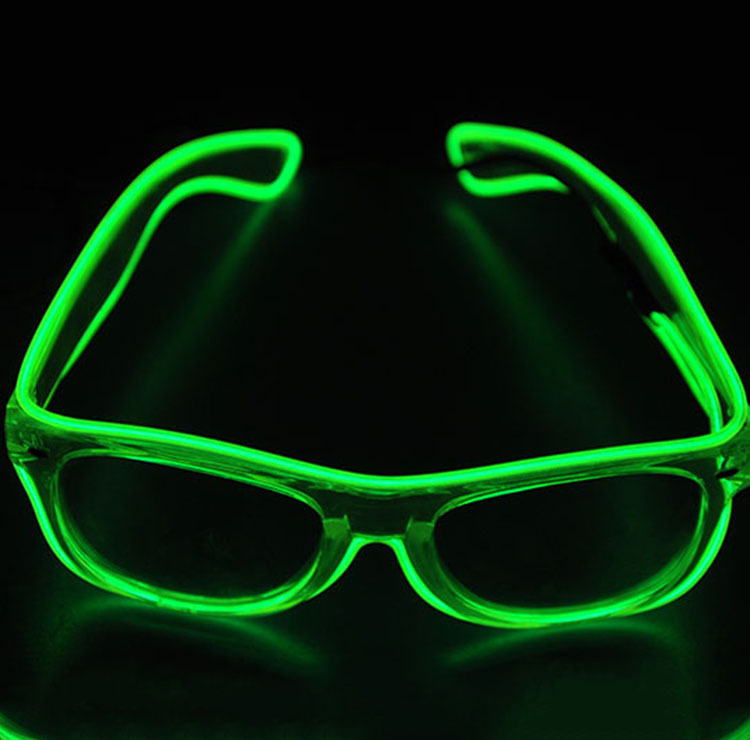 2017 Free Shipping Light Up El Wire glasses Glow Shades EDM EDC Rave ...