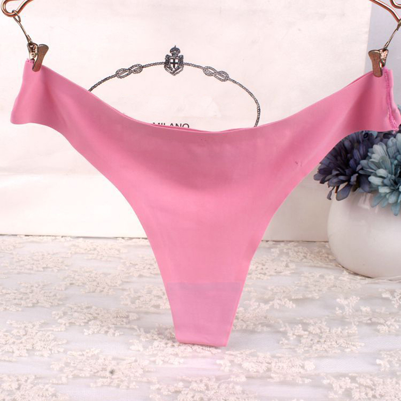 SP&CITY Hot Solid Colorful Sexy String Underwear Women Pink Underwear Thong Fashion Seamless Briefs Soft Brazilian Panties Sex