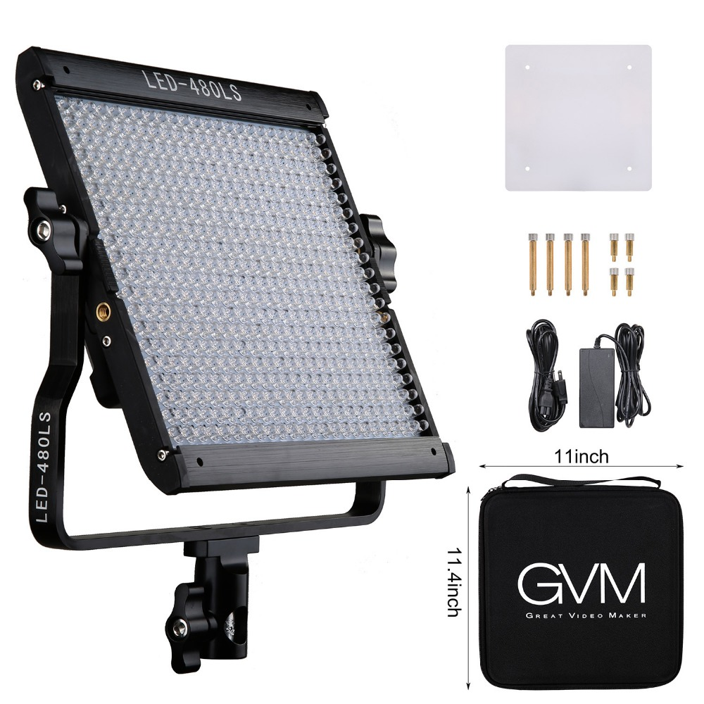 GVM Dimmable LED Studio Light Panel 2300K~6800K LED Studio Light CRI97+ TLCI97+ 15000lux 480 LED Video Lamp For Photography