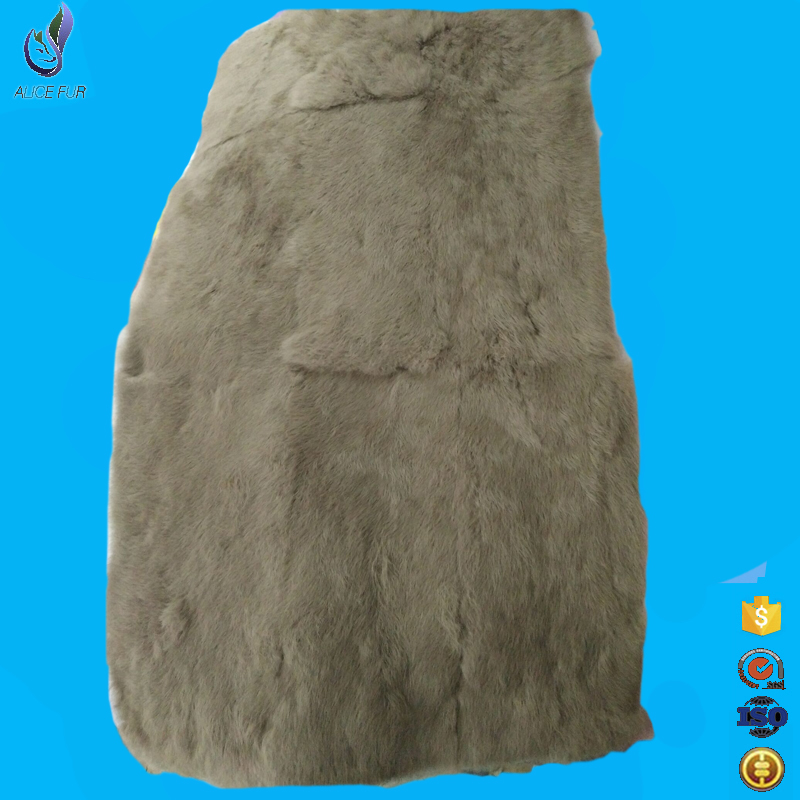 Custom size and color cheap price rabbit fur rug whole pelt dyed rabbit fur
