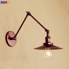 цены Antique Retro Wall Lights Fixtures Loft Style Industrial Wall Sconces Edison Long Arm Wall Lamp Vintage Lampen Applique Murale