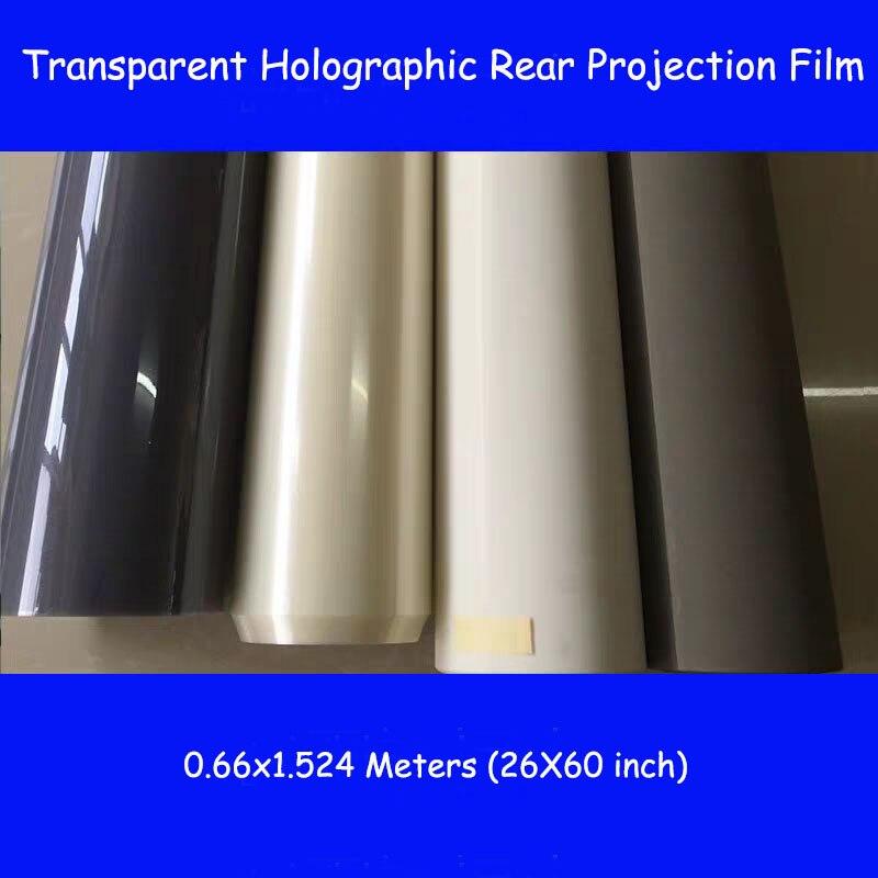 1 pièces 1.524*0.66m 1 mètre carré publicité adhésif holographique Film de Projection arrière feuille de film 3D pour église de magasin de fenêtre