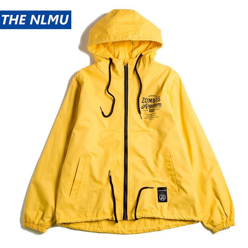 Street Style Hooded Jackets Coat Men Hip Hop Cotton Streetwear Jacket