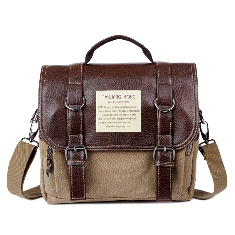 2018 new brand men travel tote boutique business casual canvas bag British retro shoulder messenger bags Small handbags