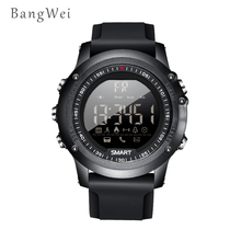 hot deal buy 2018new bangwei smart watches mens 50 meters depth waterproof sports brand riding ascend fitness timing smart digital watch men