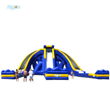 FREE SHIPPING BY SEA Giant Outdoor Commercial Inflatable Water Slide For Adult With Triple Lanes
