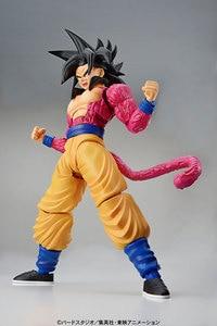 Image 2 - PrettyAngel oryginalne Bandai rysunek wzrost standardowy montaż Dragon Ball GT Super Saiyan 4 Son Goku plastikowy Model figurka