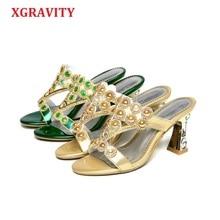 цены XGRAVIT New 2019 Agate Ladies Casual Dress Shoes Sexy Crystal Carnelian Design Women Footwear Hot Ladies Flip Flop Slippers C265