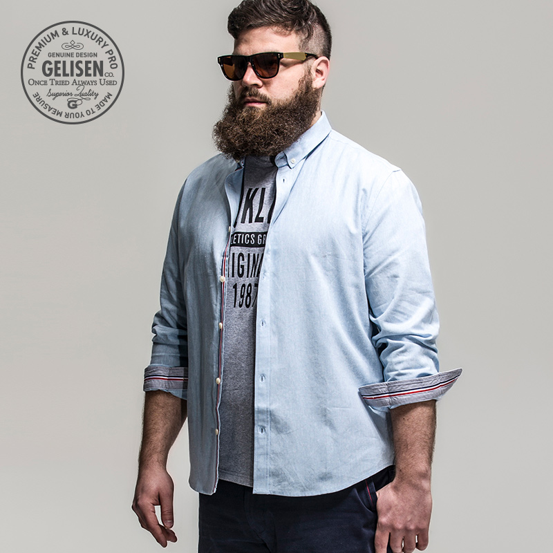 d03bb238e06 Gelisen Brand Men s Shirts Business Code Of Linen   Cotton Blended  Comfortable Long Sleeve Shirt-in Casual Shirts from Men s Clothing on  Aliexpress.com ...