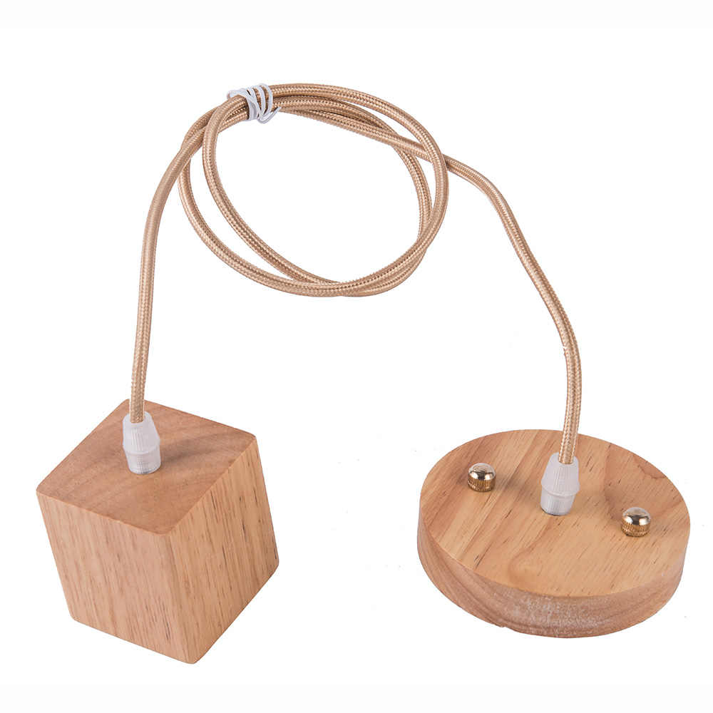 Hot Selling Wood Lamp Base E27 WoodLamp Holder pretty Pendant Bulb Light Screw E27 Socket