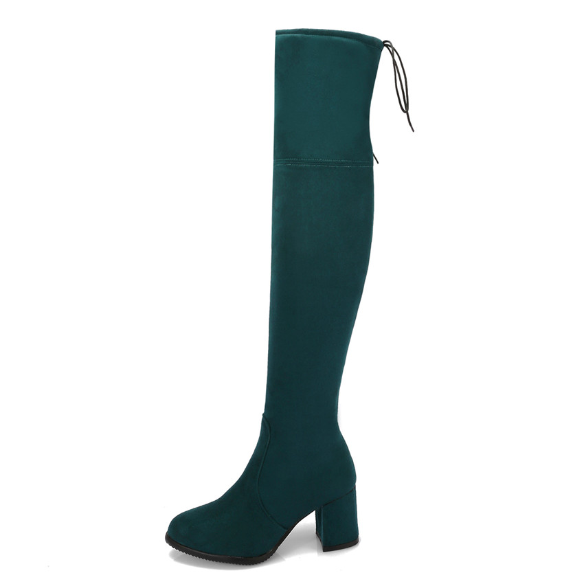 56b6a4f9ce Spring Autumn Women Over the Knee Boots High Heel Woman Thigh High Boots  Small Plus Size 32 33 40 41 42 43 44 45 46 47 48-in Over-the-Knee Boots  from Shoes ...
