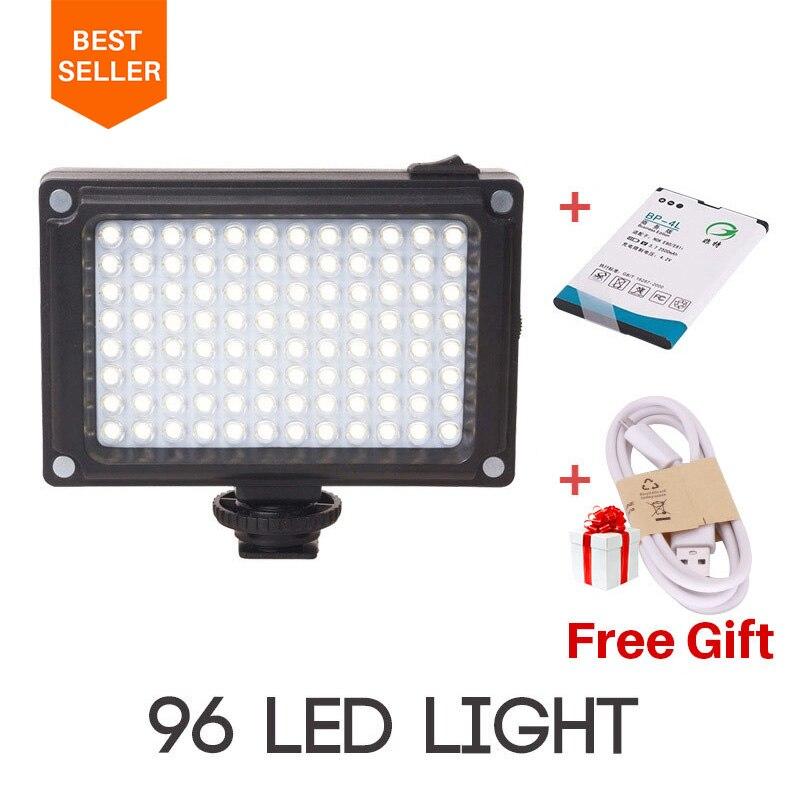 Ulanzi AriLight 96 Vidéo Lumière Mini LED Vidéo Lumière avec BP-4L Batterie Photo Éclairage pour Canon Nikon Sony Youtube