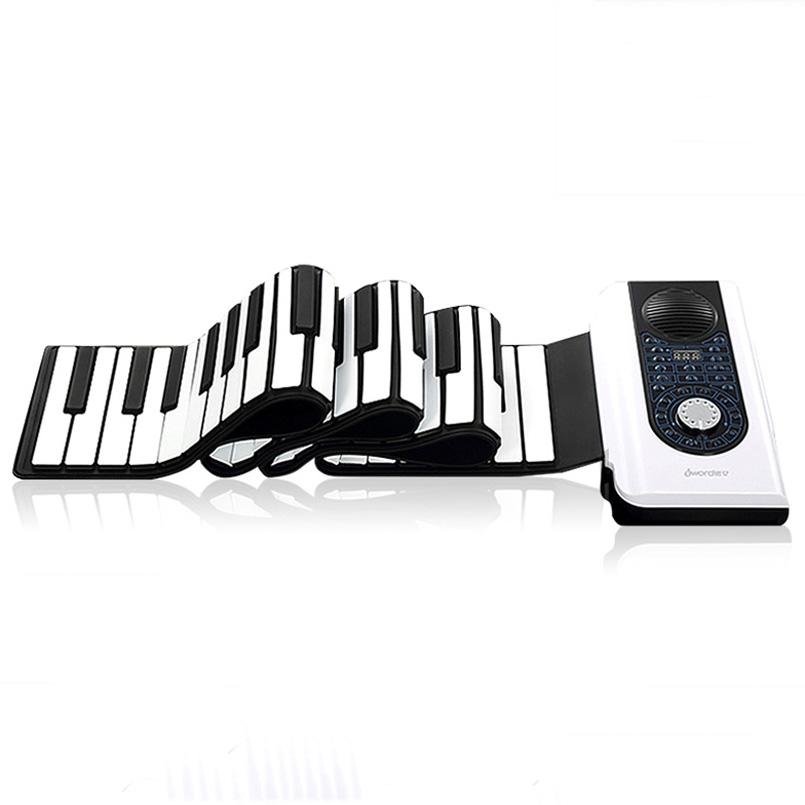 DoReMi 88-key Hand Roll Up Electronic Piano Professional MIDI Out Piano Portable Adult Beginner Foldable Pianos S2088-88