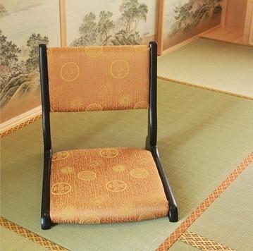 (2 pçs/lote) Sala de Estar Mobiliário Pernas Dobráveis Acabamento Preto Tecido Acolchoado Chão Tatami Japonês Zaisu Sem Pernas Cadeiras