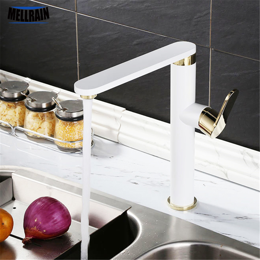 3 colors choose sink kitchen mixer faucet brass chromed white and black rotation single hole basin faucet mixer tap3 colors choose sink kitchen mixer faucet brass chromed white and black rotation single hole basin faucet mixer tap