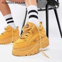 Новинка 2018 г. на толстой платформе для женщин спортивная обувь Archlight взлетно посадочной полосы женские ботинки криперы Женские повседневны