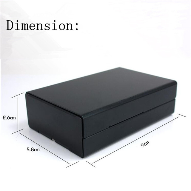 High quality aluminum alloy Black case ultra thin automatic cigarette case male metal e cigarettes box laser DIY design forever