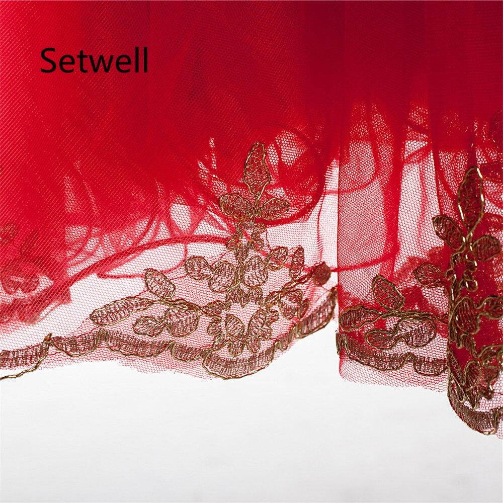 Setwell 2017 Red Prom Vestidos de Lentejuelas de Oro Vestido De ...