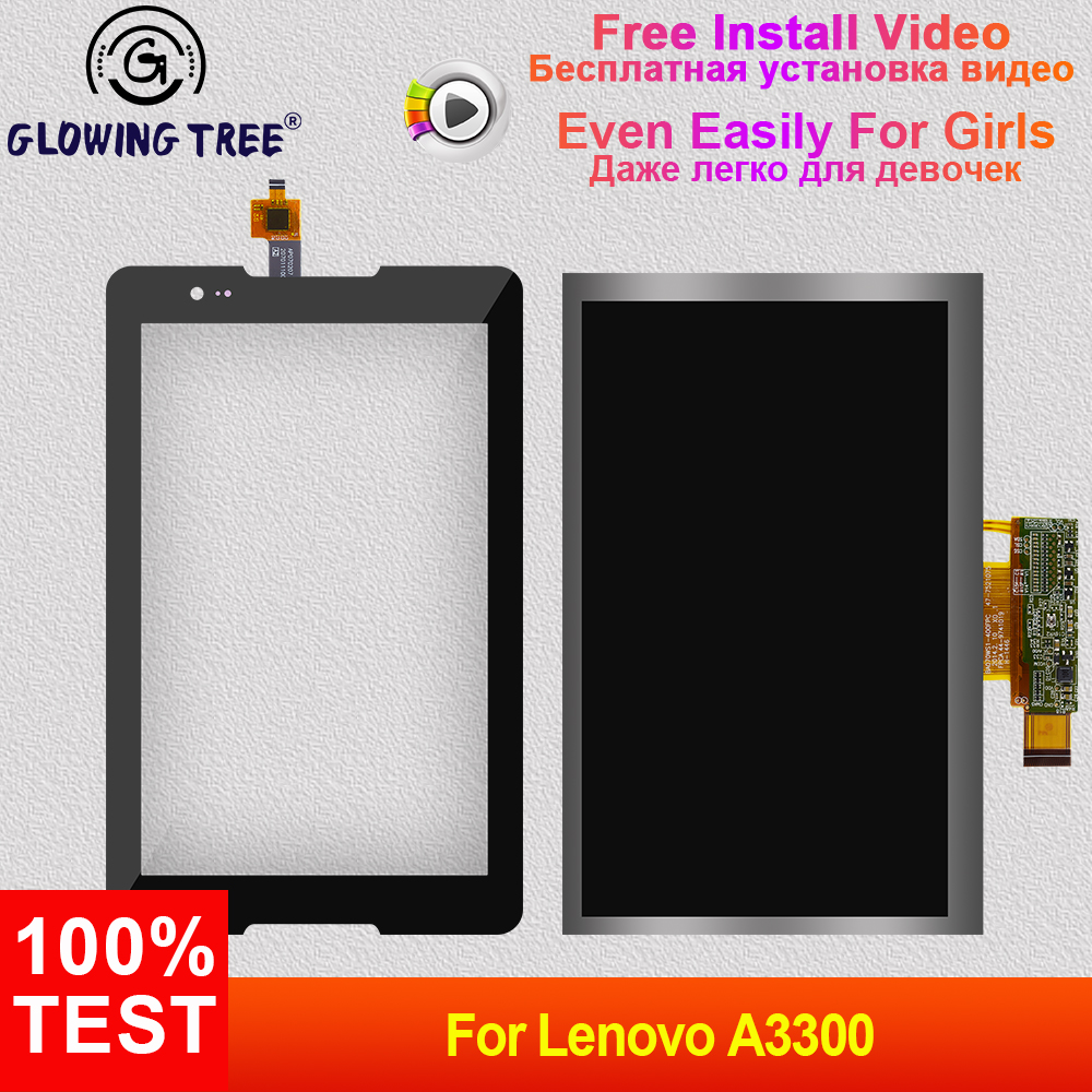 For <font><b>Lenovo</b></font> Tab A7-30 <font><b>A3300</b></font> A3300T <font><b>A3300</b></font>-<font><b>GV</b></font> <font><b>A3300</b></font>-HV Touch Screen Digitizer Sensor Glass + LCD Display Screen Panel Monitor image