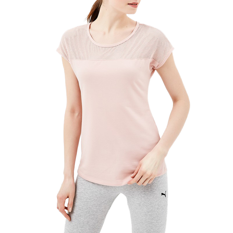 T-Shirts MODIS M181S00143 woman t shirt for female TmallFS fashionable color black camo round neck t shirt for woman