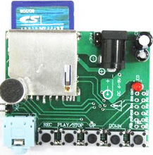 1PCS Digital Sound Recording Voice Module WTR010-SD for Recorder SD card Slot