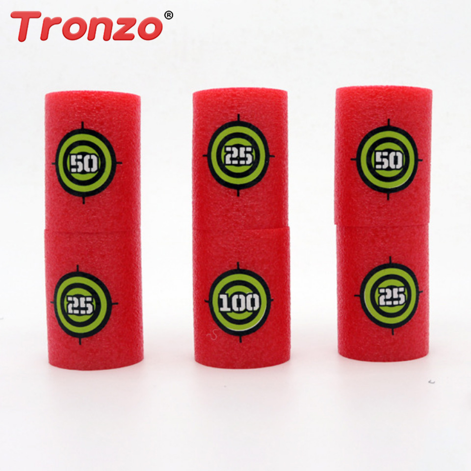 Toy Guns Symbol Of The Brand Tronzo 6pcs/set Bullet Targets Shot Toy Guns Soft Bullet Annex Games Blasters Darts Shot Dart Toy Set Funny Cylinder Toys New Varieties Are Introduced One After Another Outdoor Fun & Sports