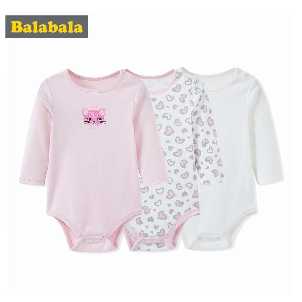 Balabala 女の赤ちゃん服ボディスーツ秋冬スーツ長袖ローブボディスーツ新生児ベビー幼児