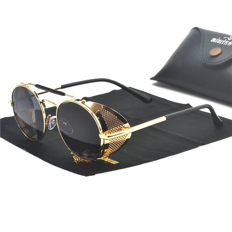 d6f397f589 MINCL Retro hueco hombres punk gafas de sol de las mujeres Vintage gafas de  diseñador de