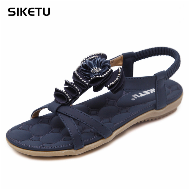 194cc08229 SIKETU Brand Hot sale Free Shipping Folk Style Sandals Bohemia Diamond  Shoes Beach Shoes Women comfortable Sandals Summer -in Women's Sandals from  ...