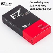 цена на EZ Revolution Cartridge Needles Curved Magnum Tattoo Needles #12 (0.35 mm) compatible with Cartridge Machine Grips 20 pcs/Box