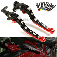 Motorcycle Brake Clutch Levers Fits For YAMAHA TW 125 TW125 1999 2004 2003 CNC Adjustable Folding Extendable Brake Clutch Levers