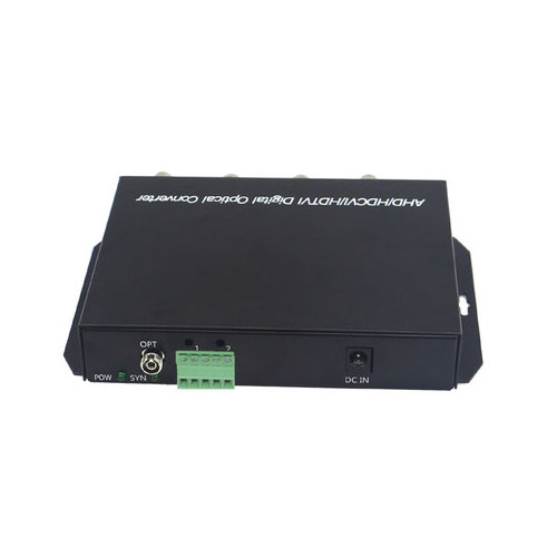 1pair 4CH 1080P AHD CVI FC/Single Mode Coaxial Video Data Fiber Media Converters