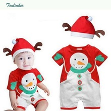 Christmas Baby Boys Girls Costumes New infant Jumpsuit With Hat Cotton Clothes Baby Newborn Cosplay Costume Kids Clothing baby boys police costume clothing set with hat infant t shirt pants hat newborn cap cosplay ropa bebe costume for babies