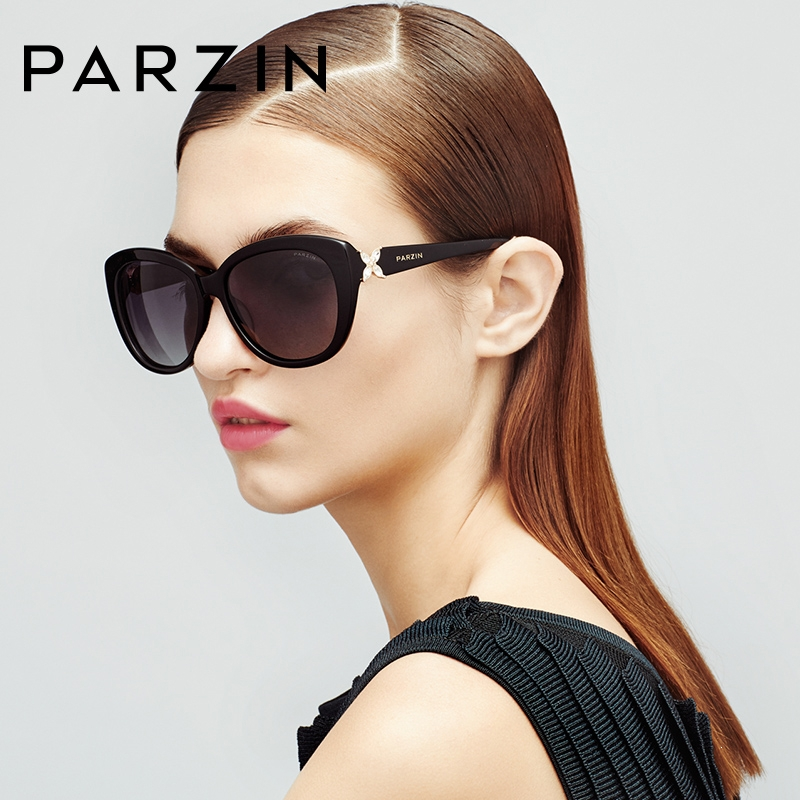 PARZIN Brand Women Sun Glasses Real Polarized Glasses For Driving Big Frame High Quality Sunglasses With Original Case 9612